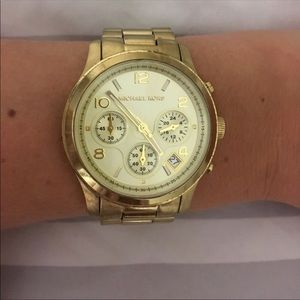 Michael Kors Women's Oversized Gold Chrono Watch